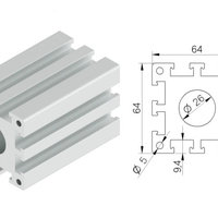 Bearing Block Profile - 64 mm X 64 mm